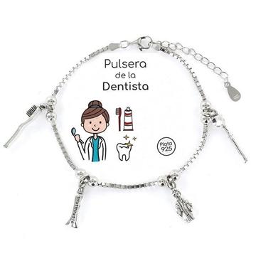 Foto de 102-9104173-2 - Pulsera Plata de la Dentista